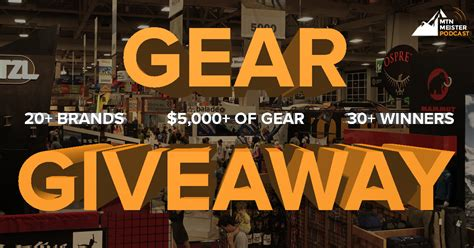 Outdoor Gear Sweepstakes - gear giveaway at outdoor retailer winter market 2017