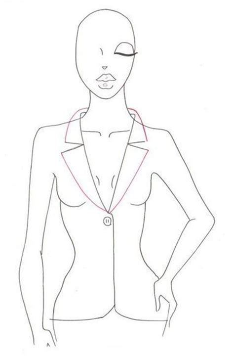 how to draw fashion templates draw jacket in drawing and painting tutorials