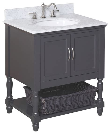charcoal bathroom vanity beverly 30 in bath vanity carrara charcoal gray traditional bathroom vanities