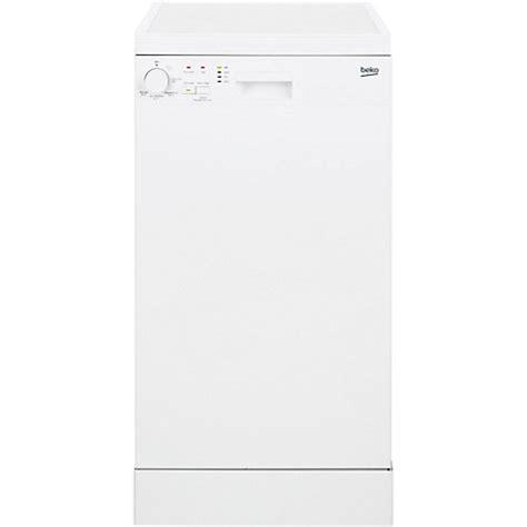buy beko dfs05010w freestanding slimline dishwasher white