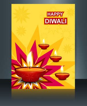 Happy Diwali Card Templates by Free Vector For Free About 215 392 Free Vector