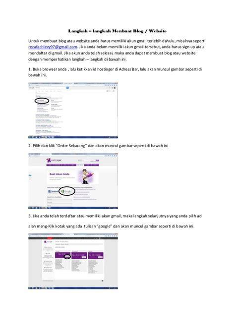 membuat web gmail langkah membuat website sendiri