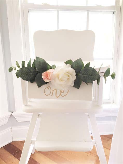 High Chair Decorations On High by Kara S Ideas Floral 1st Birthday Kara S