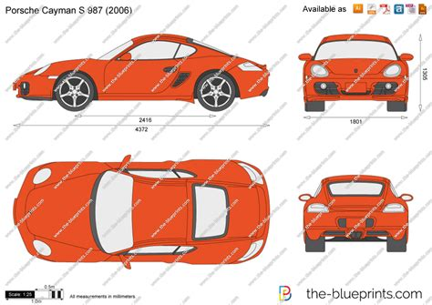 porsche vector the blueprints com vector drawing porsche cayman s 987