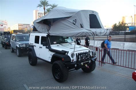 Tent For Jeep Tent Cing In A Jeep At Sema 2012 Cool Jeeps