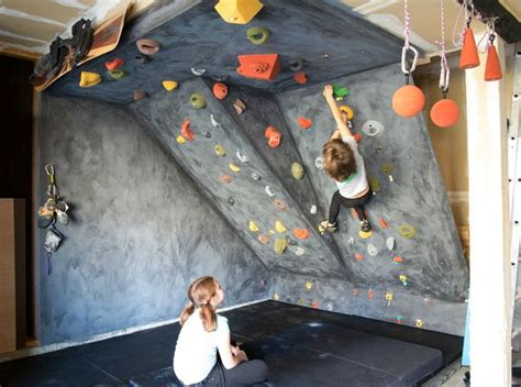 diy outdoor climbing wall diy rock climbing wall for kids basement pinterest