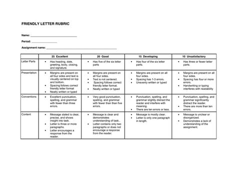 business letter rubric 28 images rubric for business