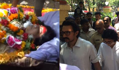 actress death pics reema lagoo funeral pics video bollywood mourns the