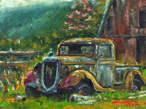 truck painting image gallery barn truck paintings