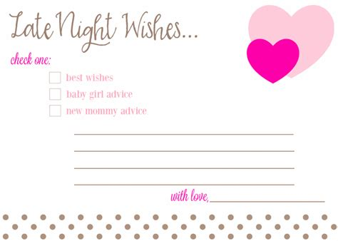 Free Printable Advice Cards For Baby Shower Template