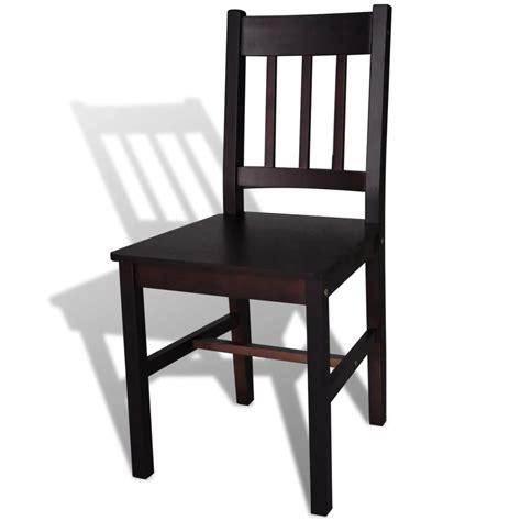 Dining Chairs 6 Vidaxl Co Uk 6 Pcs Brown Wood Dining Chair