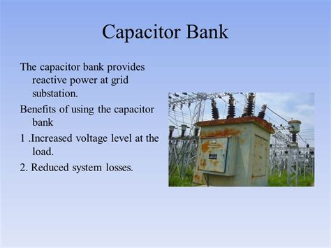 capacitor bank voltage rise submitted to submitted by mr ppt