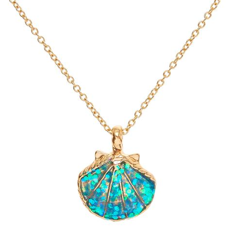 Mermaid Necklace mermaid glitter shell pendant necklace s us