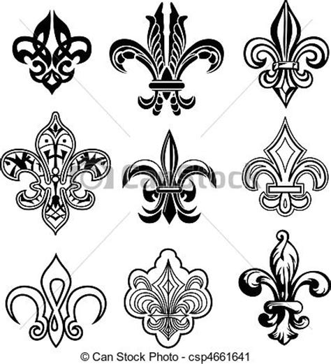 vector clip art of fleur de lis new orleans csp4661641