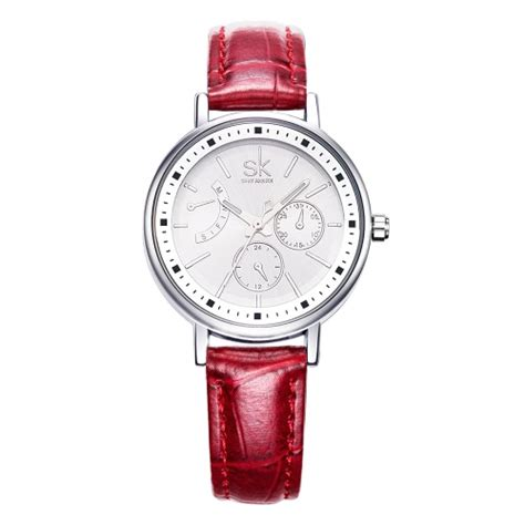 Promo Skmei Casual Leather Water Resistant 30m 9107 sk fashion luxury pu leather luminous casual watches quartz analog 30m water proof