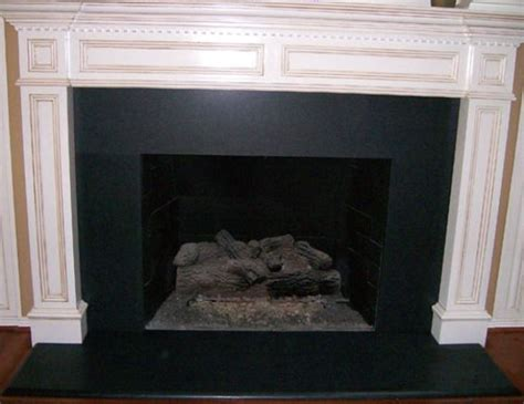 absolute black granite fireplace surrounds haddon
