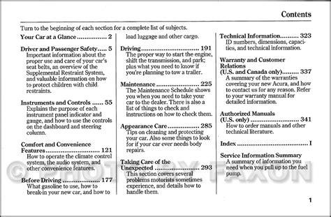 car maintenance manuals 2003 acura nsx user handbook 2003 acura cl owners manual original