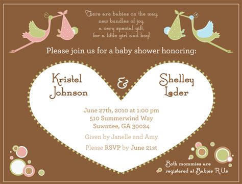Joint Baby Shower by Joint Baby Shower Invitations Theruntime