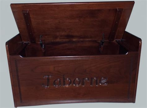 bench toy chest amish hardwood bench cherry toy box chest two slow closing