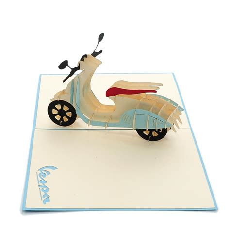 pop up new vespa pop up card custom new design birthday pop up