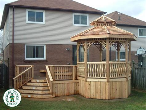 Built In Gazebo This Beautiful Deck And Gazebo Was Built In The Winter Of