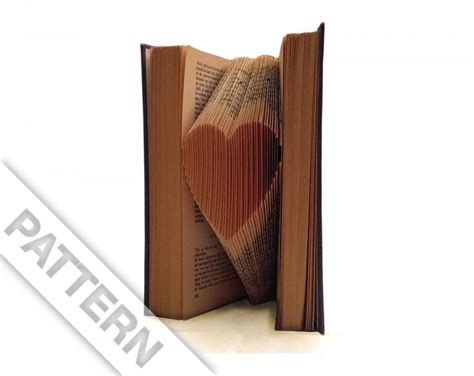 folded book art pattern heart folded book art pattern to fold a small heart into a book