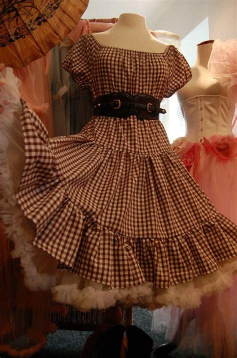 hoedown attire for women vv belle starr gingham boho prairie cowgirl dress western