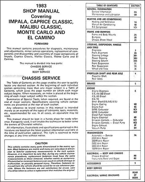 auto repair manual free download 1992 chevrolet caprice interior lighting service manual 1983 chevrolet caprice auto repair manual free 1983 chevy repair shop manual