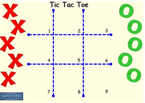 tic tac toe template for teachers gallery templates