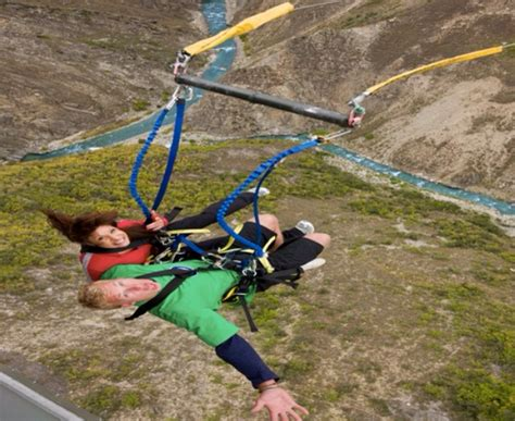 new zealand swing aj hackett nevis bungy swing queenstown new zealand