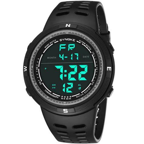 Jam Tangan 2 11 Digital synoke jam tangan digital sporty pria 9698 black