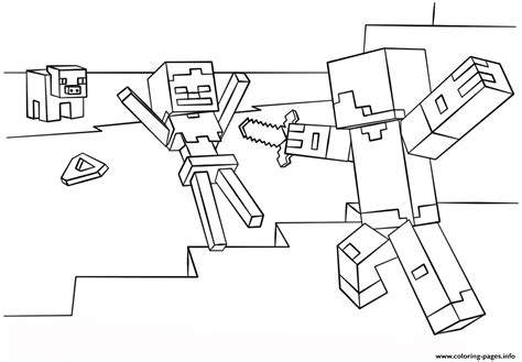 minecraft coloring pages skeleton minecraft steve vs skeleton coloring pages printable