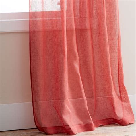 coral curtains coral sheer curtain panels curtains pinterest colors
