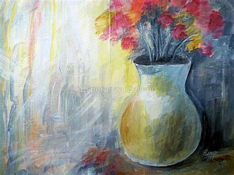 Acrylic Painting Of Flowers In A Vase by Quot Vase With Flowers Acrylic Painting Quot By Esperanza Gallego