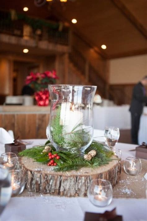 christmas centerpieces top 40 christmas wedding centerpiece ideas christmas