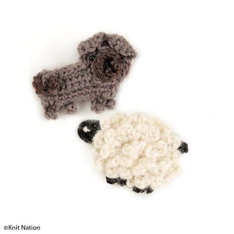 pug sheep ravelry knit nation mascots pug and sheep pattern by irene strange