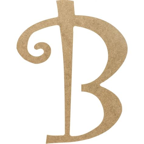 Decorative Letter B by 14 Quot Decorative Wooden Curly Letter B Ab2146