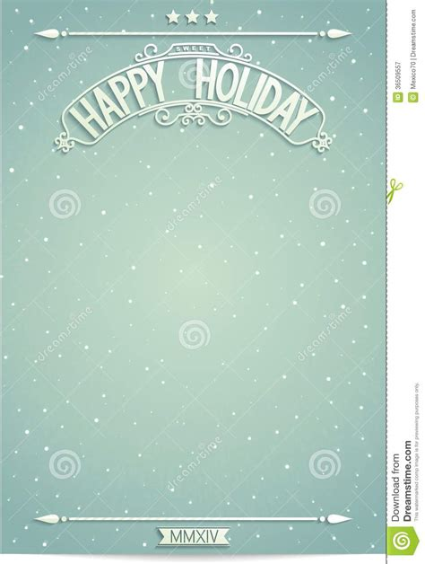 happy holiday poster template  wishes royalty