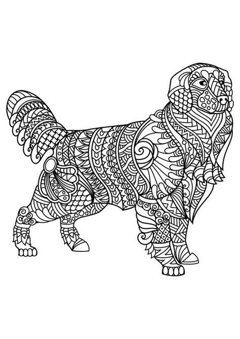 dog mandala coloring page carterie pergamano et tableaux 3d page 37