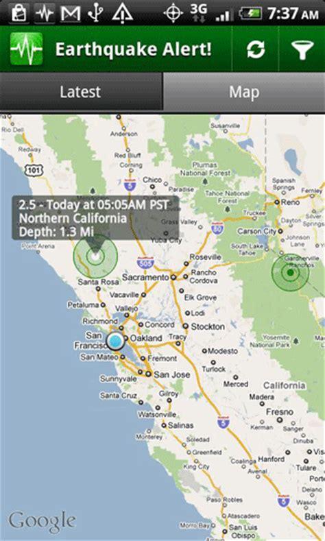 earthquake alert earthquake alert free android app android freeware