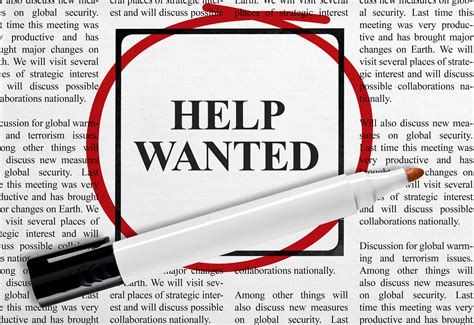 Student Guide To Landing A Job Best Colleges Help Wanted Newspaper Ad Template