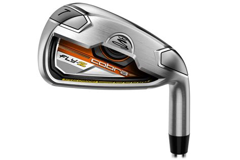 cobra golf fly  steel irons orange  golf