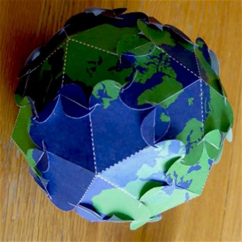 How To Make Paper Globe - planetpals craft page make printable earth ornament for
