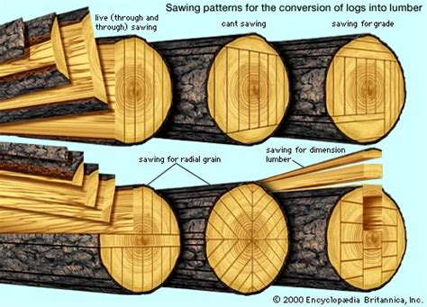 woodworking with logs how wood is cut pics
