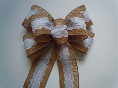 how to place burlap bow and burlap streamers on christmas tree vintage lace burlap wedding bow shabby chic burlap lace