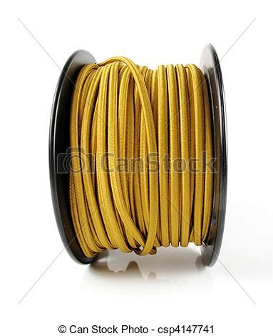 stock photography of spool of yellow wire large spool of