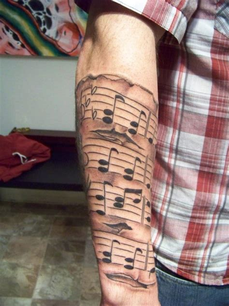 sheet music tattoo wonderful sheet tattoos creativefan