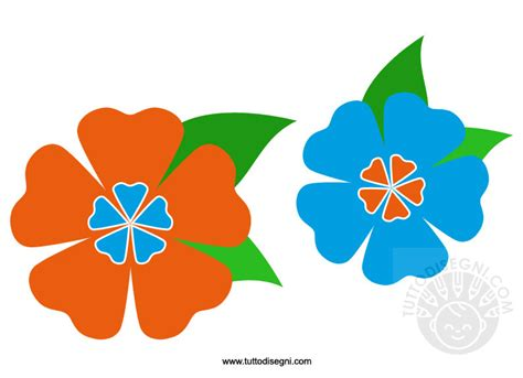 fiori disegno colorati fiori di primavera colorati tuttodisegni