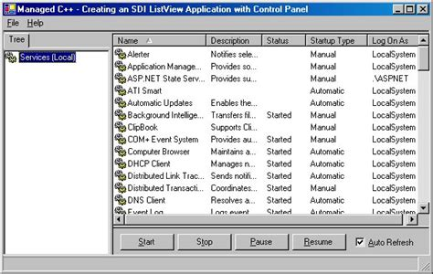 guide topics ui layout listview html windows forms creating an sdi listview and control panel ui