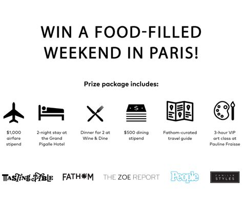Paris Sweepstakes 2016 - trip to paris 2016 sweepstakes tasting table